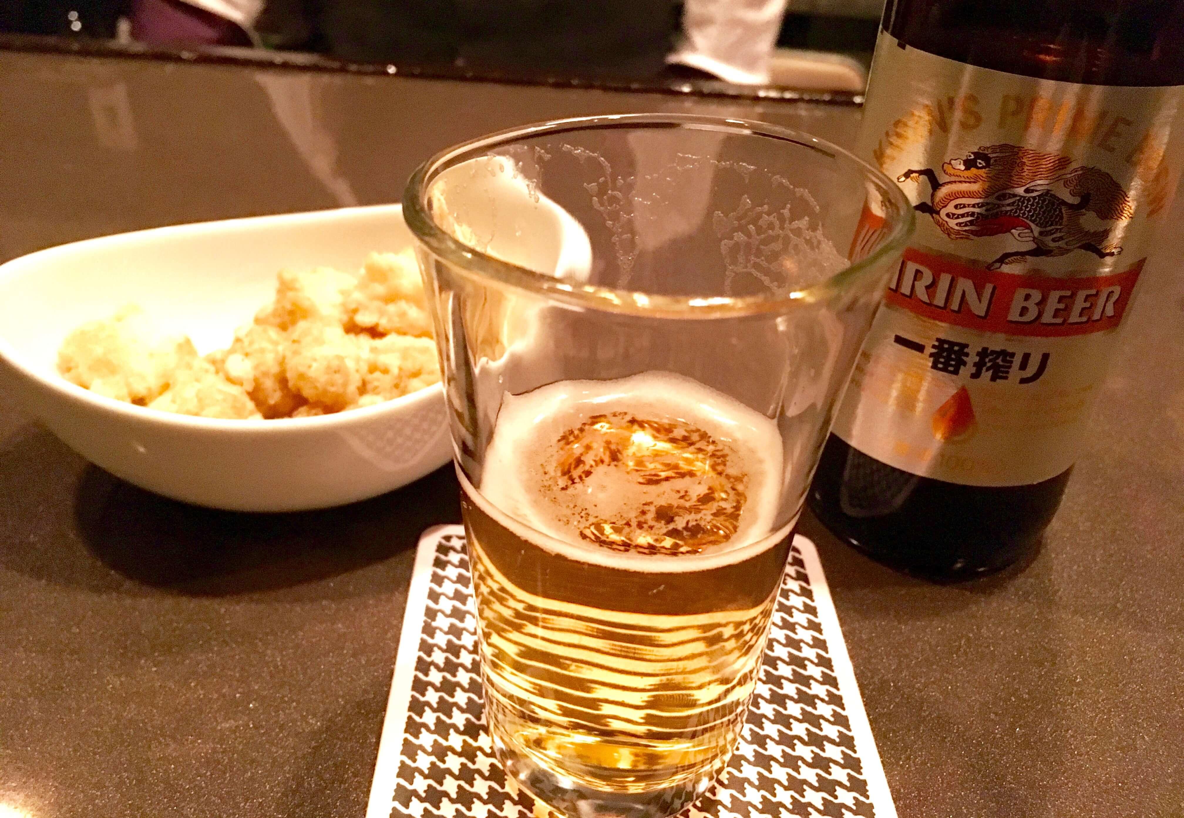 シニカルボンド ビールとお通し